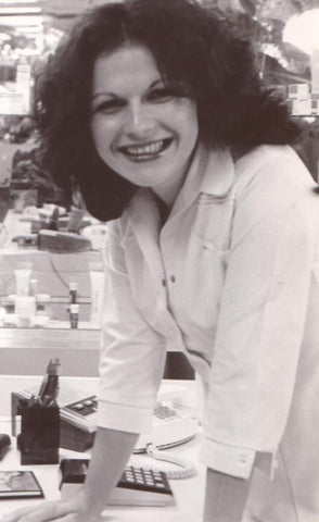 Lydia circa 1977 at the opening of the Klisar Skin Care Center in New York City.
