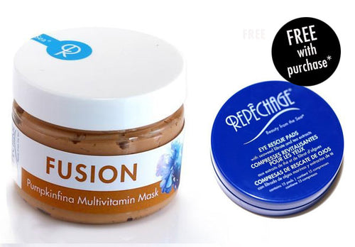 FUSION™ Pumpkinfina Multivitamin Mask with FREE Eye Rescue Pad (Travel Size)*