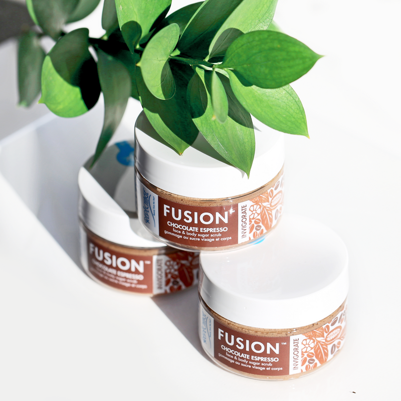 FUSION™ Chocolate Espresso Face & Body Sugar Scrub - Buy 1 Get 1 FREE!