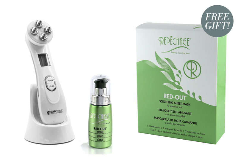 Red-Out® Serum & LED Device with Free Box of Red-Out® Sheet Masks