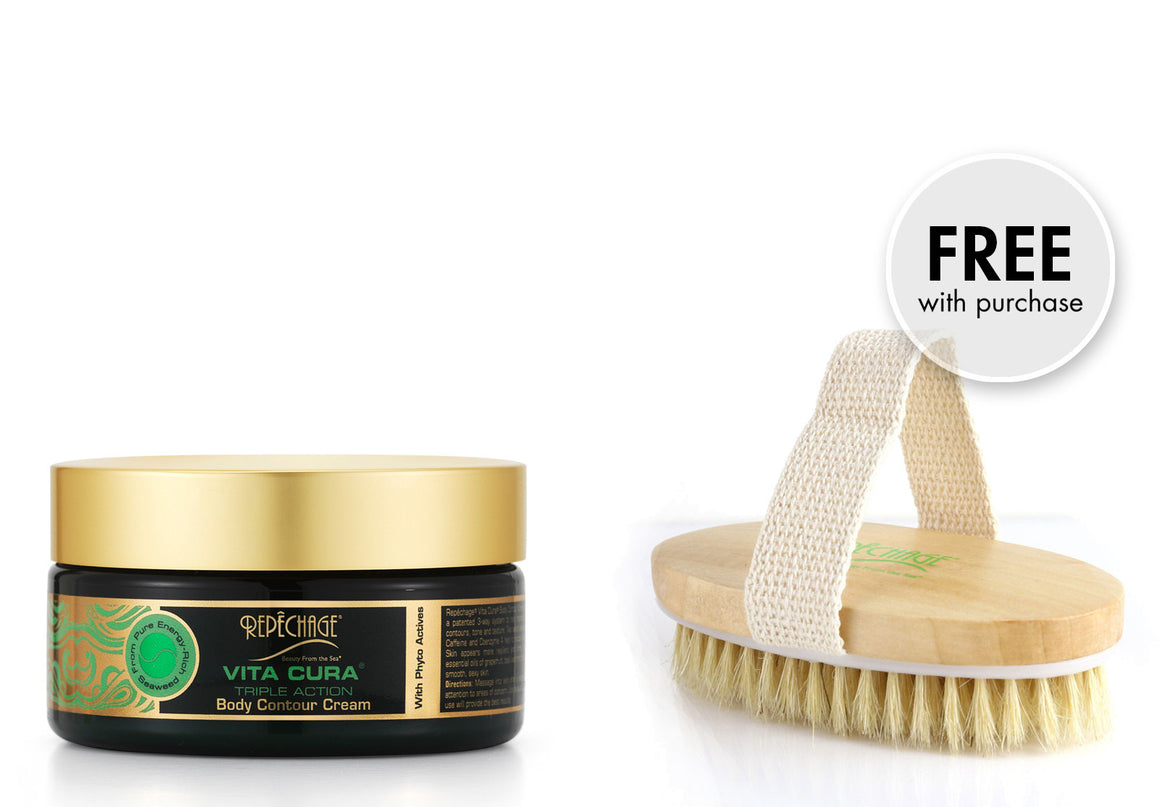 Vita Cura® Triple Action Body Contour Cream with FREE Dry Brush