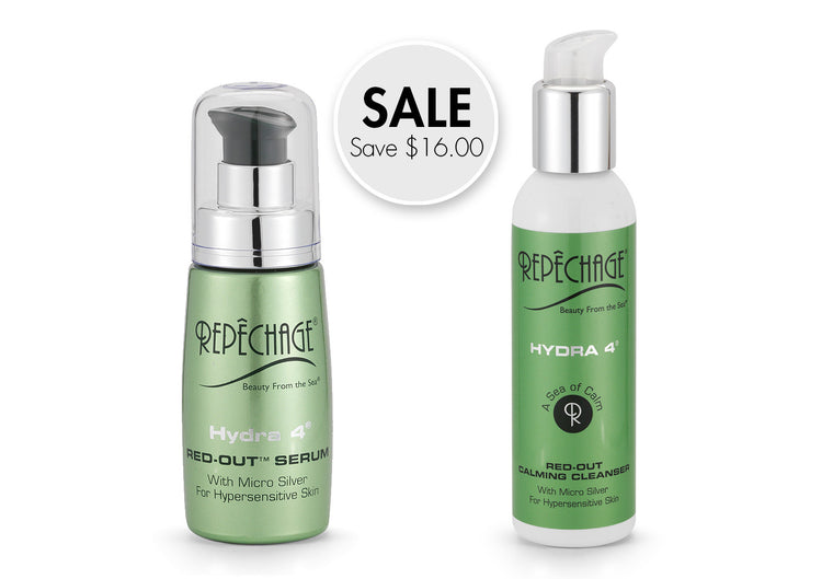 ON SALE: Hydra 4 Red-Out® Serum And Hydra 4 Red-Out® Calming Cleanser