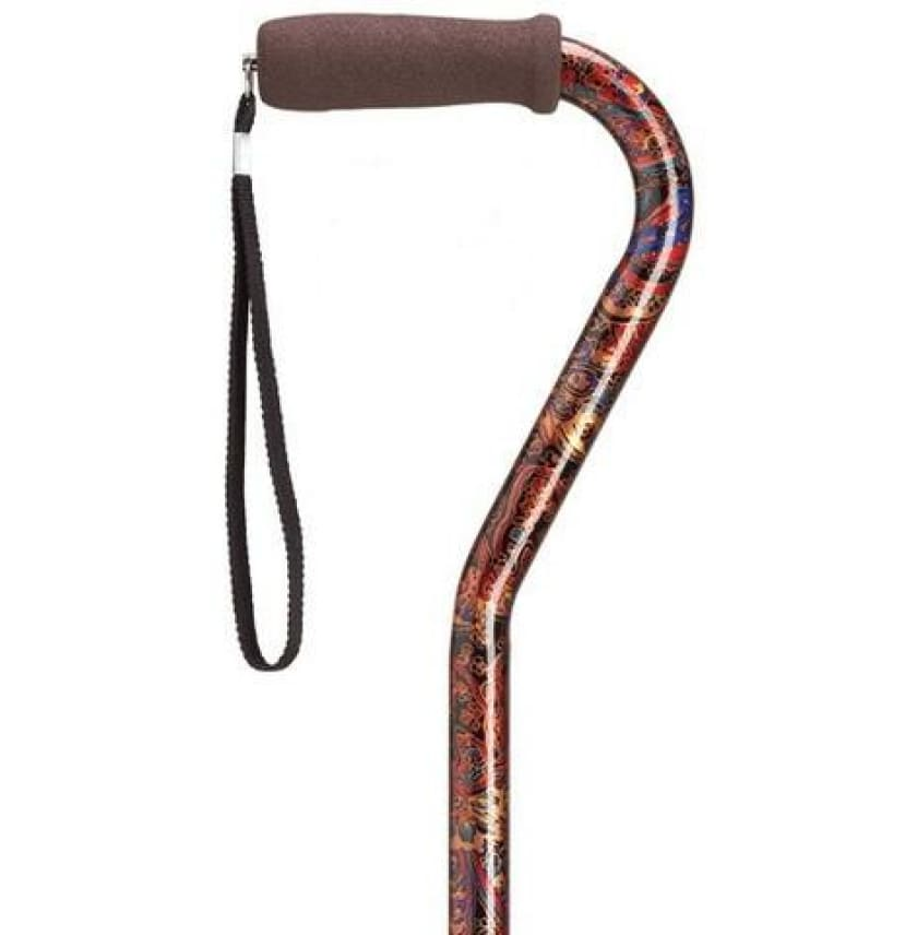 ADJUSTABLE OFFSET CANE ROYAL PAISLEY - CANES