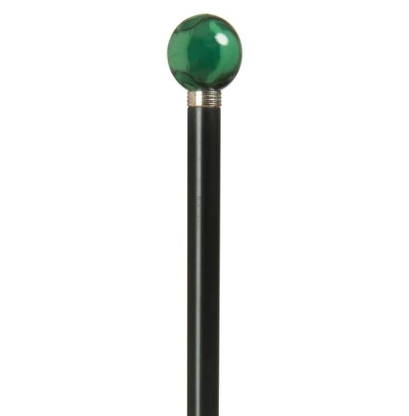 BALL CANE - NITE STICKS/BULBS IMITATION MALACHITE MARBLE - CANES