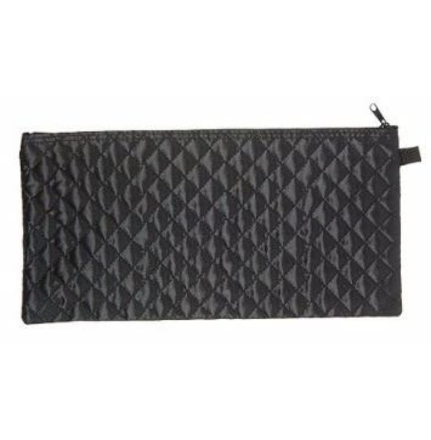 BLACK QUILTED CANE POUCH - ACCESSORIES