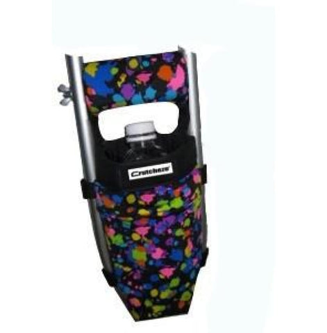 Crutcheze Crutch Bag - Black Splatter