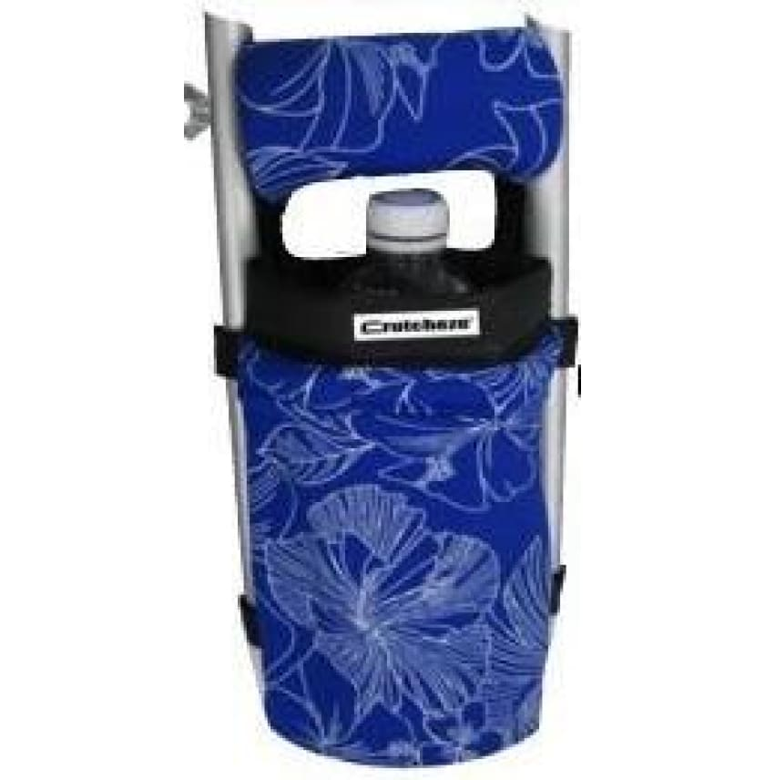 CRUTCHEZE CRUTCH BAG - BLUE and WHITE HIBISCUS - CRUTCH-Bags