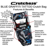 CRUTCHEZE CRUTCH BAG - BLUE GRAFFITI TATTOO - CRUTCH-Bags