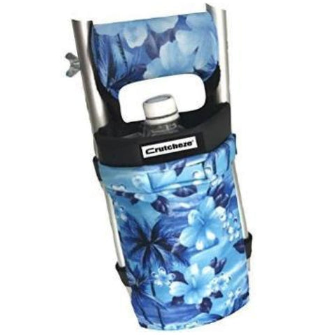 CRUTCHEZE CRUTCH BAG - BLUE HIBISCUS