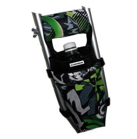 CRUTCHEZE CRUTCH BAG - GREEN GRAFFITI TATTOO