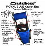 CRUTCHEZE CRUTCH BAG - ROYAL BLUE - CRUTCH-Bags