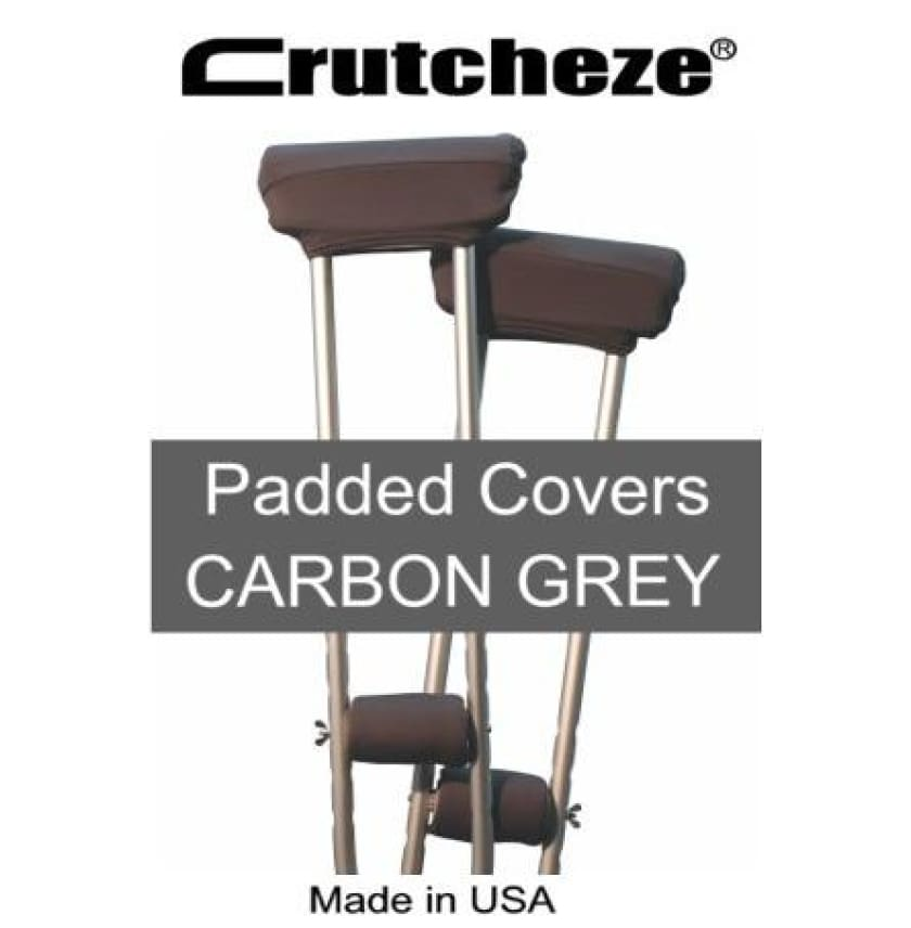 CRUTCHEZE CRUTCH PADDED COVERS - CARBON GREY - CRUTCH-Padsn Grips