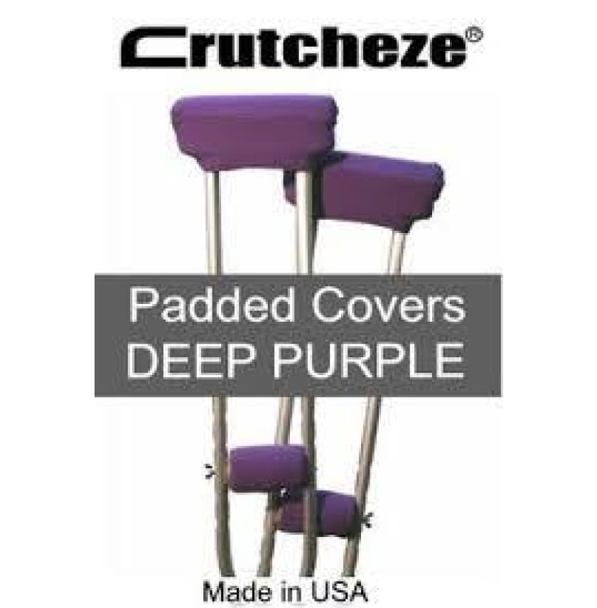 CRUTCHEZE CRUTCH PADDED COVERS - DEEP PURPLE - CRUTCH-Padsn Grips