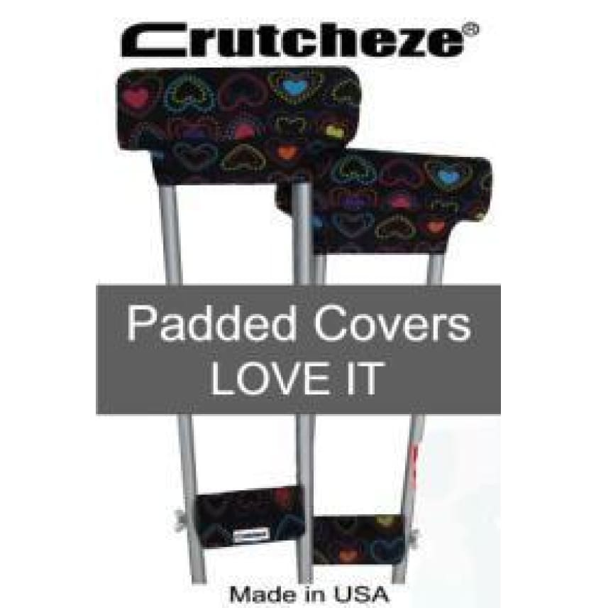 CRUTCHEZE CRUTCH PADDED COVERS - LOVE IT - CRUTCH-Padsn Grips