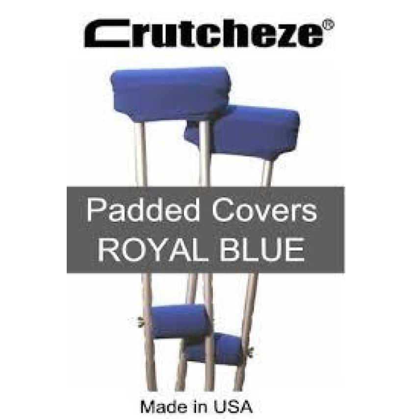 CRUTCHEZE CRUTCH PADDED COVERS - ROYAL BLUE - CRUTCH-Padsn Grips