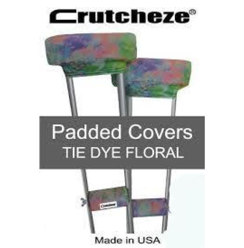 CRUTCHEZE CRUTCH PADDED COVERS - TIE DYE FLORAL - CRUTCH-Padsn Grips