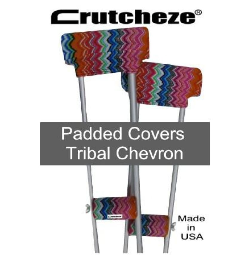 CRUTCHEZE CRUTCH PADDED COVERS - TRIBAL CHEVRON - CRUTCH-Padsn Grips