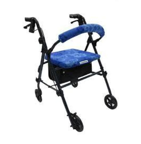CRUTCHEZE ROLLATOR WALKER COVERS - BLUE HAWAIIAN FLORAL