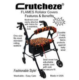 CRUTCHEZE ROLLATOR WALKER COVERS - FLAMES - WALKER-Covers