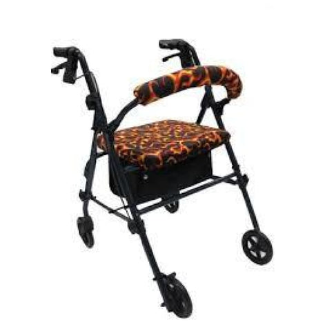 CRUTCHEZE ROLLATOR WALKER COVERS - FLAMES