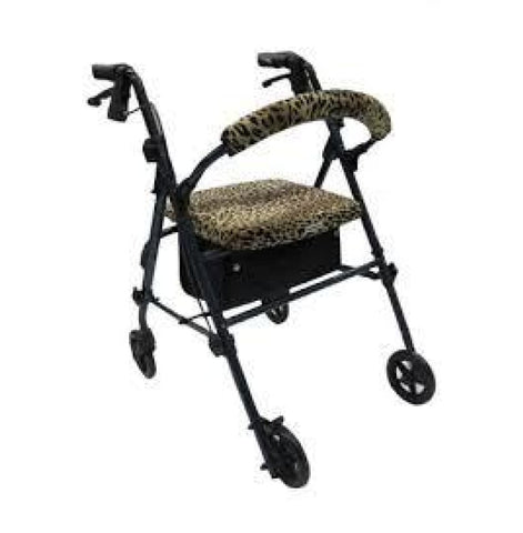 CRUTCHEZE ROLLATOR WALKER COVERS - LEOPARD
