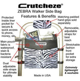 CRUTCHEZE WALKER ROLLATOR WHEELCHAIR SIDE BAG - BAGS-Walker/Wheelchair/Scooter