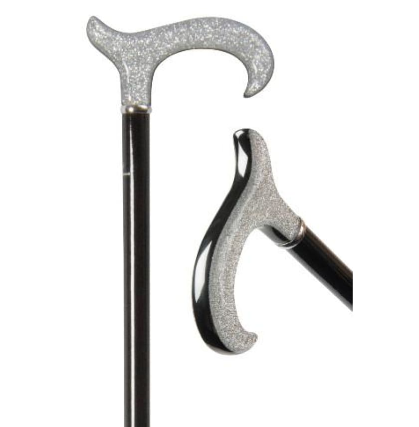 FORMAL EXCLUSIVE CANE - Silver Lamé Sparkle - CANES