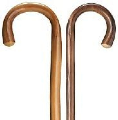 HOOK/CROOK CANE - NATURAL CHESTNUT