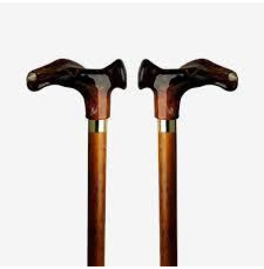 ORTHOPEDIC CANE - ANATOMIC GRIP AMBER/CHERRY - Right Handed Contour - CANES