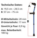 OSSENBERG KIDS FOREARM CRUTCHES PARTIAL COLOR - CRUTCHES-Forearm