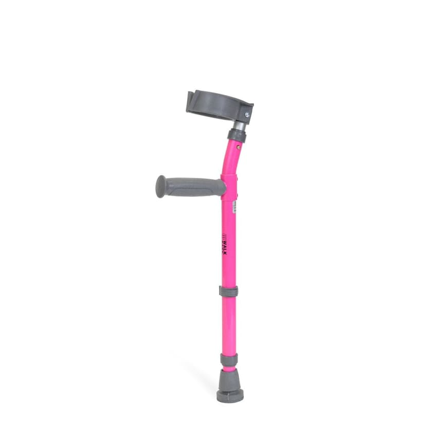 Walk Easy 562 Toddler Forearm Crutches - Neon Pink - COOL KIDS STUFF