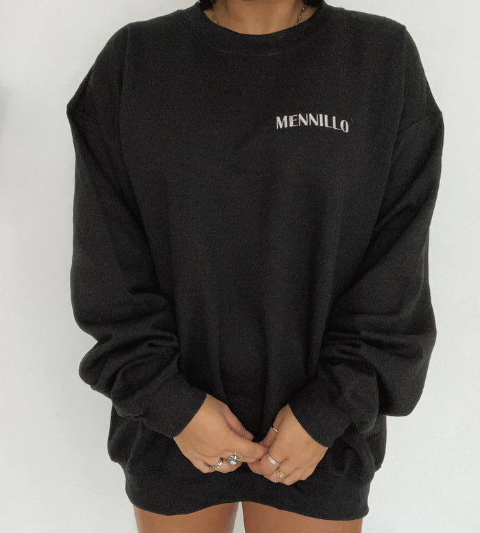 Midnight black crewneck