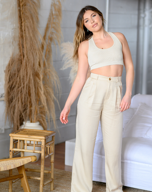 Alice cream trousers