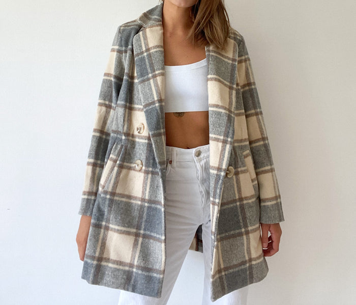 Nude check coat