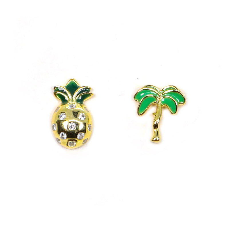 Pineapple & Palm Tree Earrings