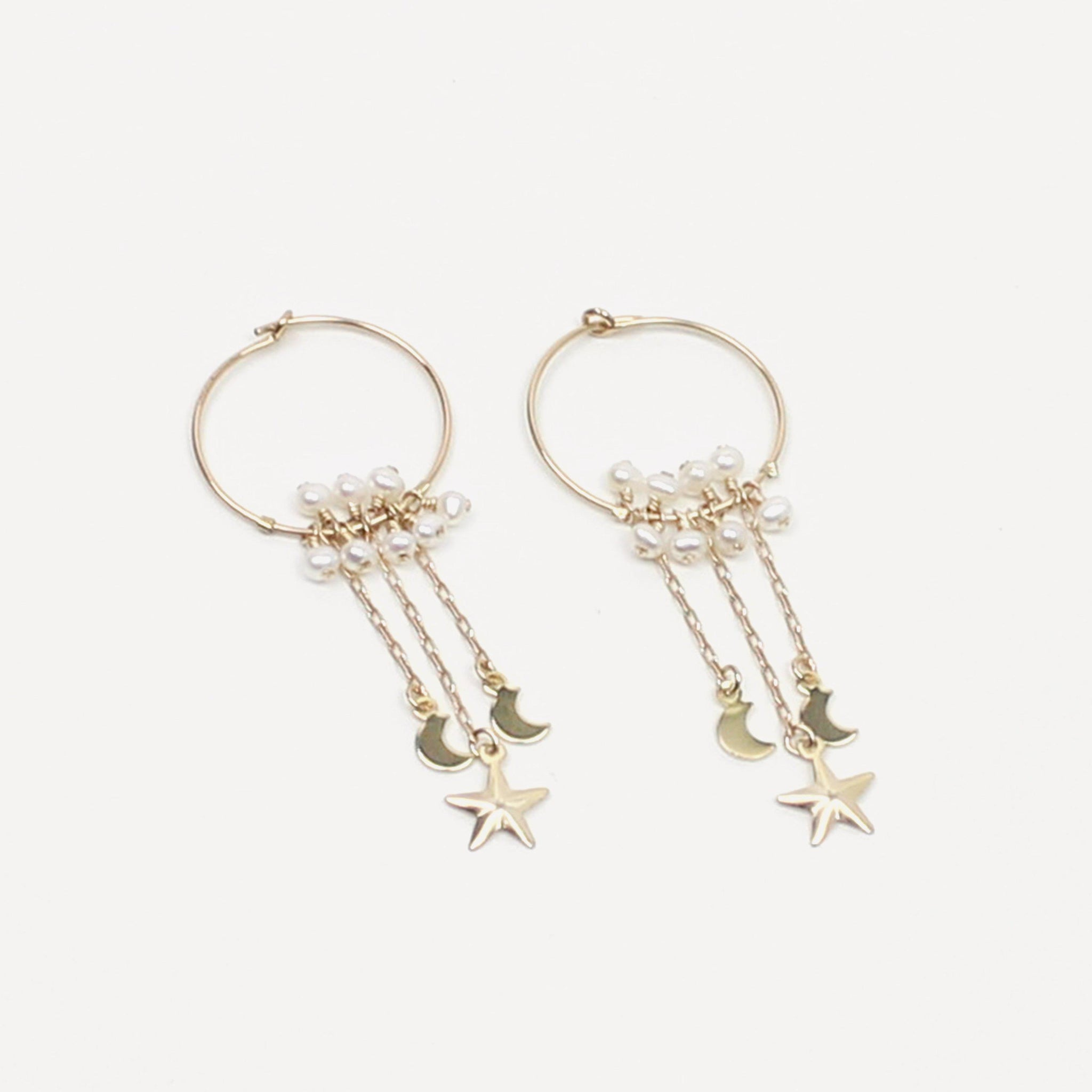 All that Moon and Star Earring-Adorn Earring-La Meno