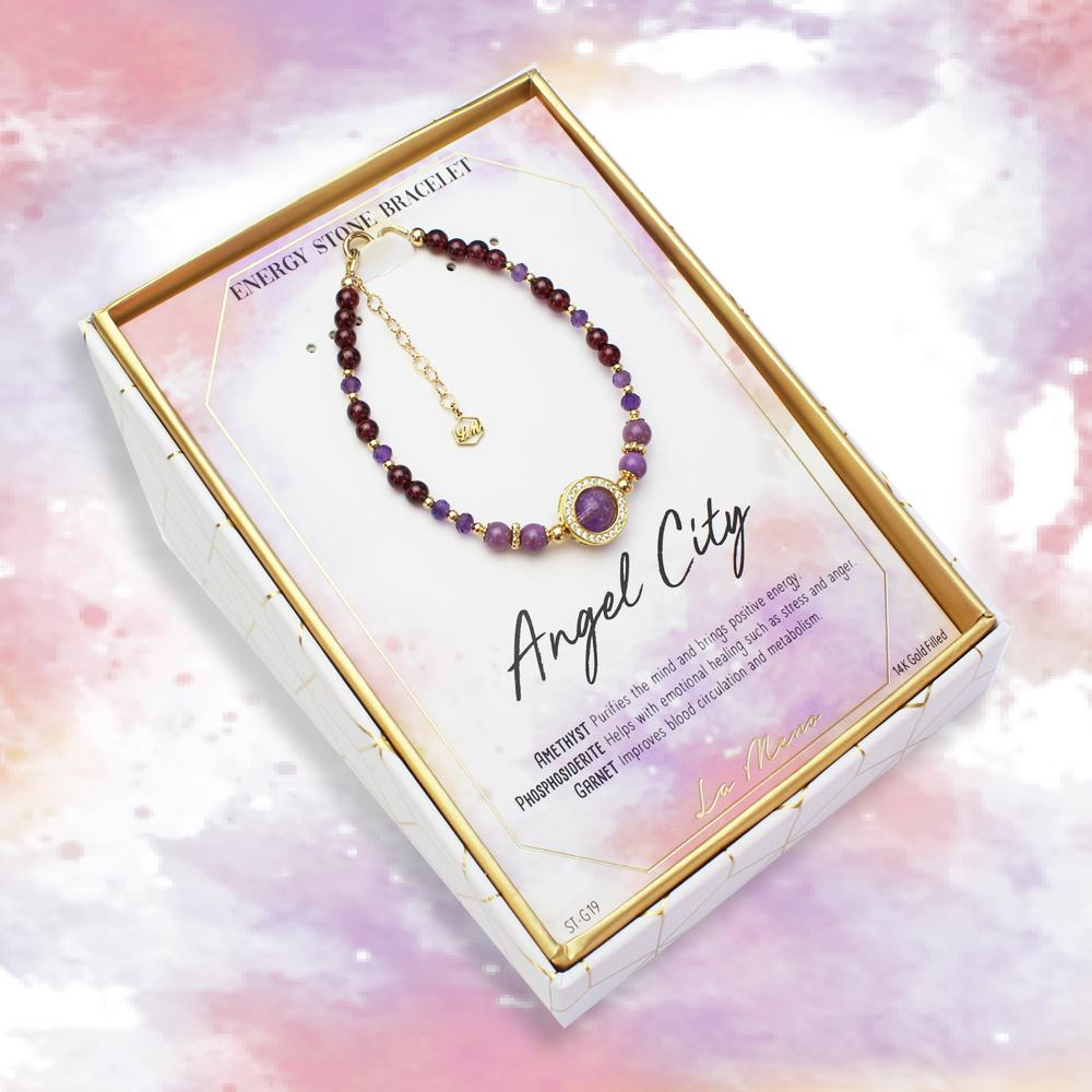 Angel City-Energy Stone Bracelet-La Meno