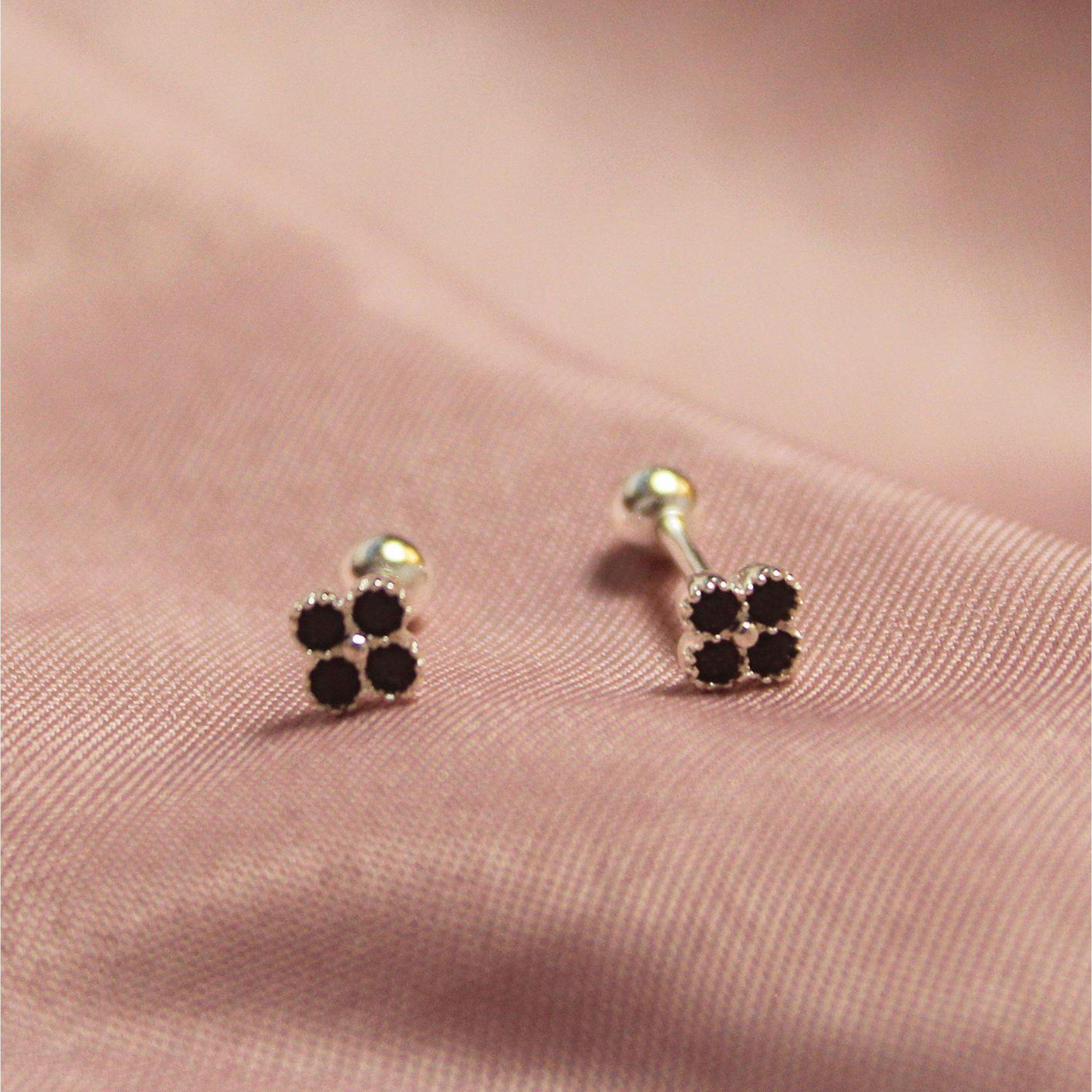 Black Club Screw Back Earring-Limited Edition-La Meno