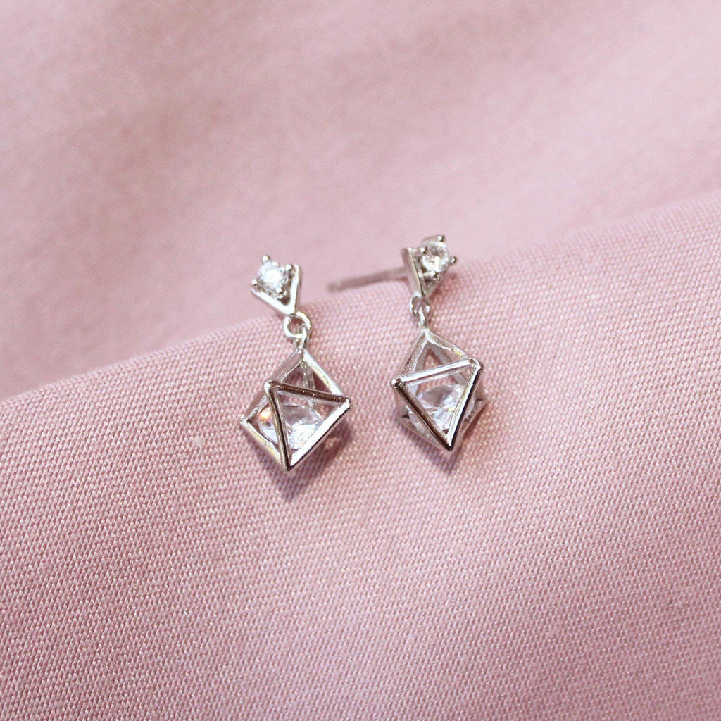 Crystal Rhombus Earring-Limited Edition-La Meno