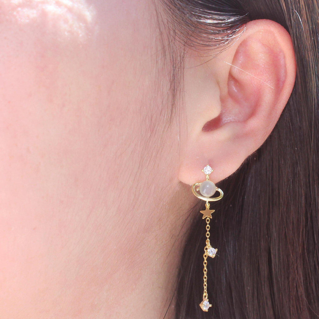 Dangling Planet & Star Earring-Limited Edition-La Meno