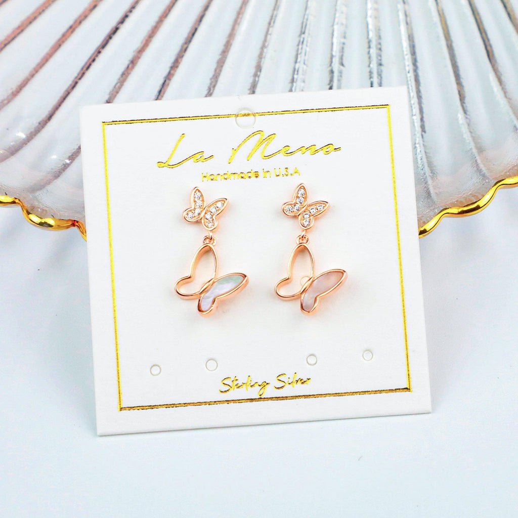 Elegant Butterfly Earrings-Limited Edition-La Meno