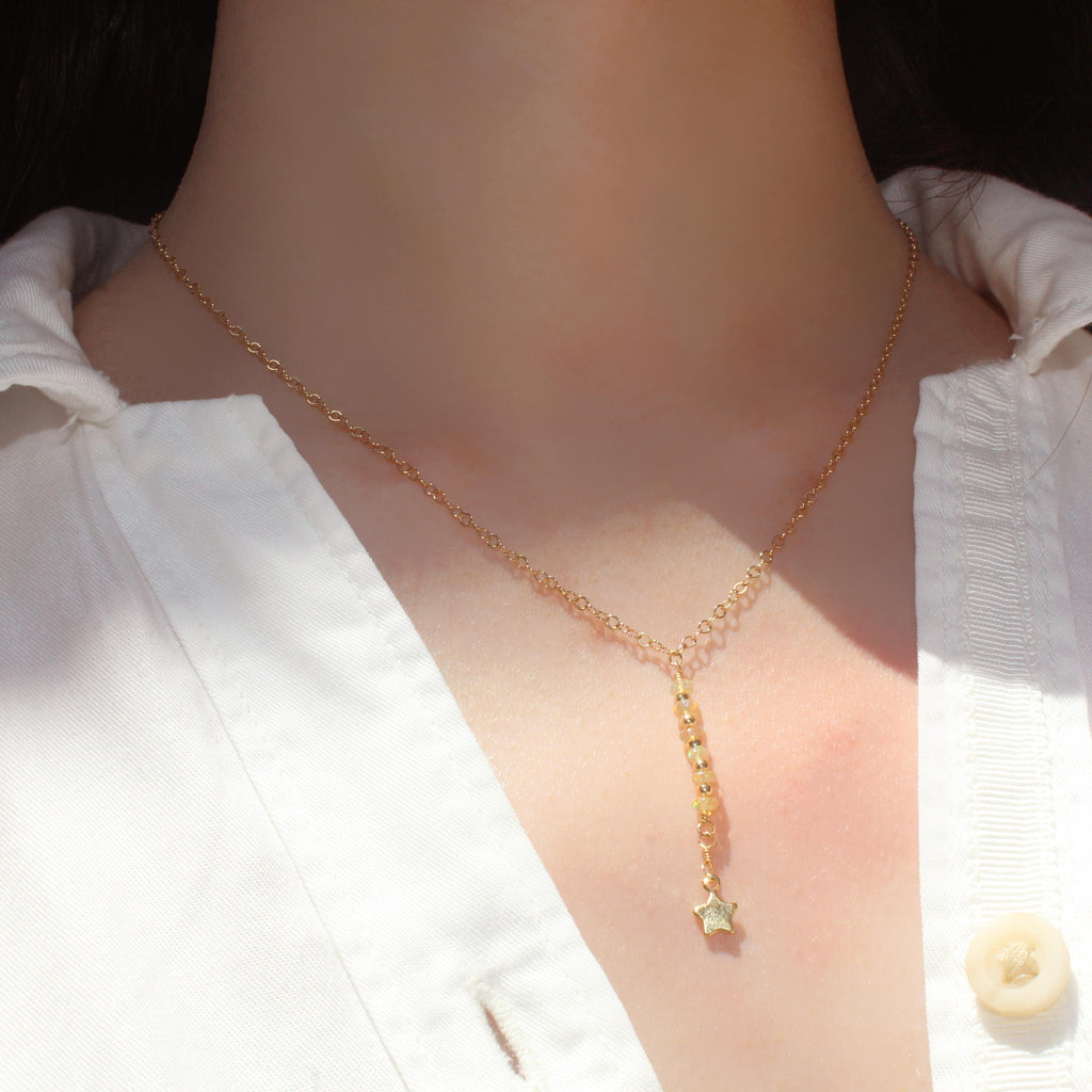 Falling Star-Adorn Necklace-La Meno