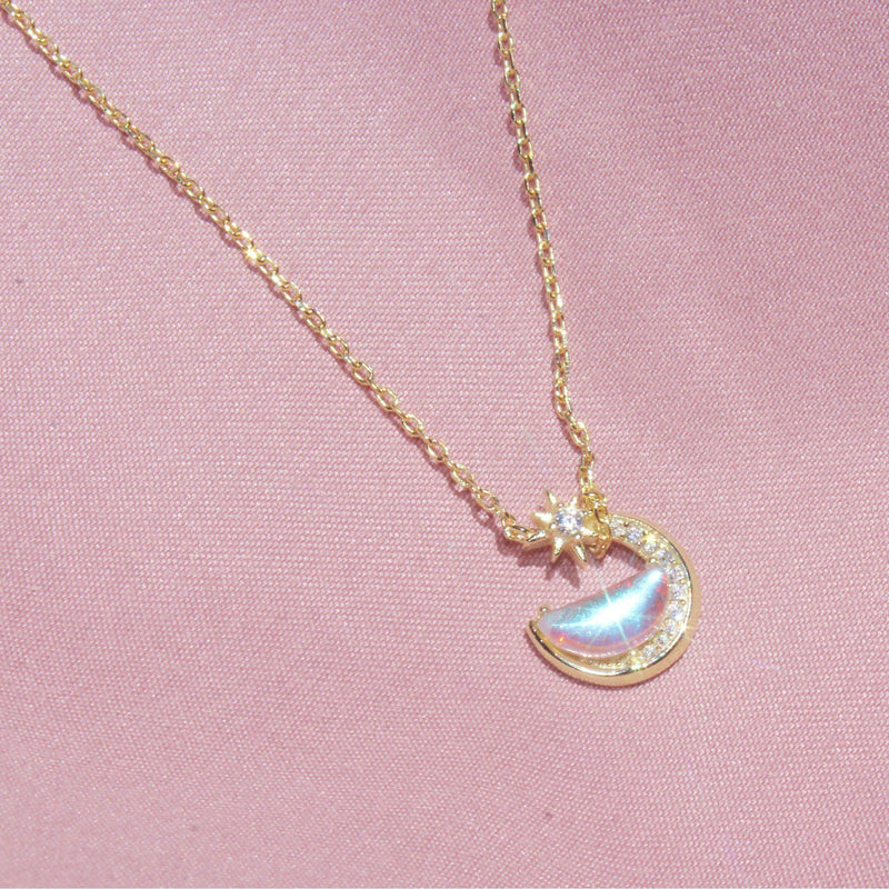 Glass Moon&Star Necklace-Limited Edition-La Meno