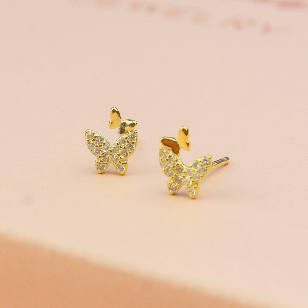 Golden Butterfly Earrings-Limited Edition-La Meno