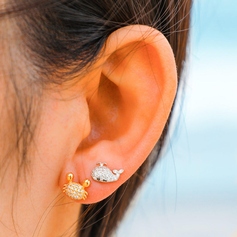 Golden Crab Earrings-Limited Edition-La Meno