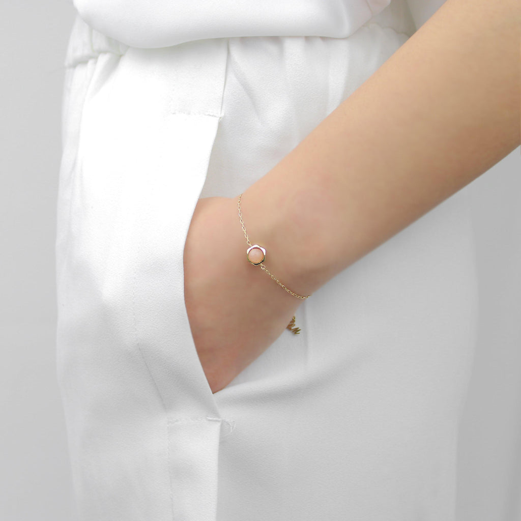 [Hexagon] Sunstone Bracelet-Hexagon Bracelet-La Meno