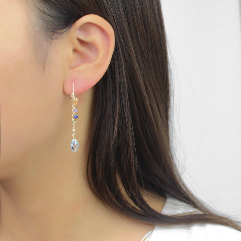 Little Blue Drop Earring-Adorn Earring-La Meno