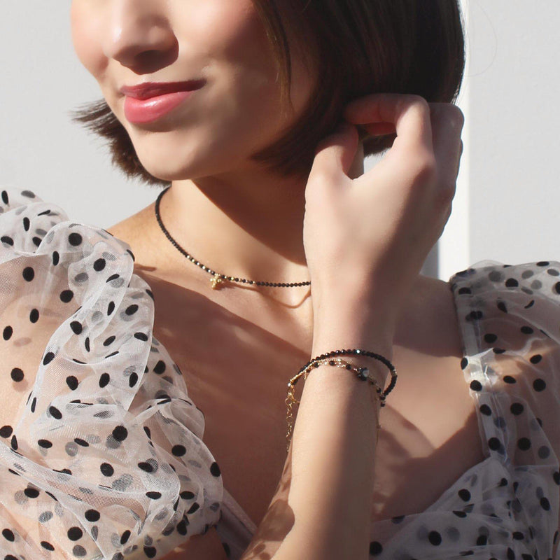 Little Cross Choker-Adorn Necklace-La Meno