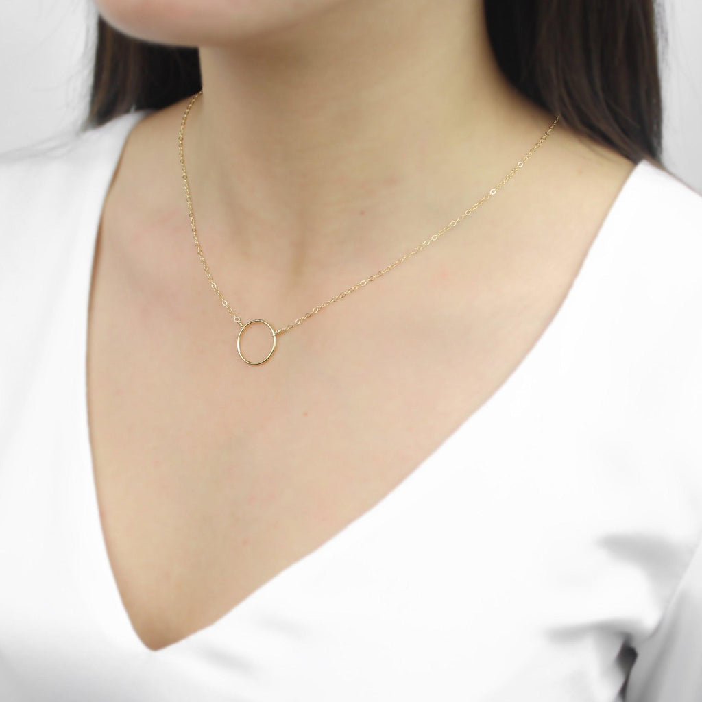 [Lucky Charm] Big Circle Necklace-Lucky Charm Necklace-La Meno