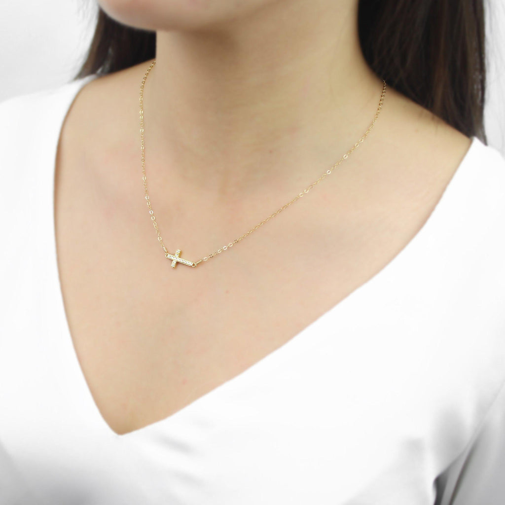 [Lucky Charm] Cross Necklace-Lucky Charm Necklace-La Meno